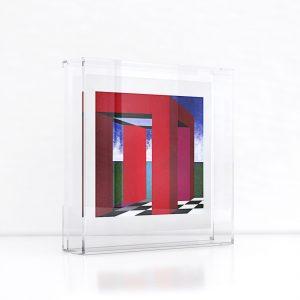 Giclée – Μεταξοτυπία έργου της εικαστικού Όπυς Ζούνη. Plexiglass κορνίζα και εκτύπωση από το Απόλυτο.