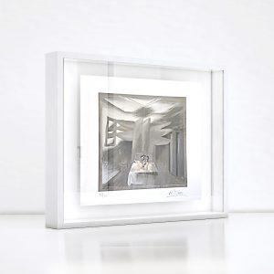 Giclée – Μεταξοτυπία έργου του εικαστικού Νίκου Στεφάνου. Ξύλινη κορνίζα και εκτύπωση από το Απόλυτο.