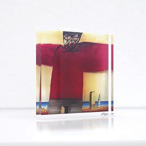 Εικαστικό αντικείμενο, εκτύπωση σε plexiglass από έργο του εικαστικού Νίκου Στεφάνου. Εκτύπωση, κατασκευή Απόλυτο.