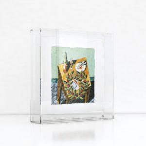 Giclée – Μεταξοτυπία έργου του εικαστικού Παύλου Σάμιου. Plexiglass κορνίζα και εκτύπωση από το Απόλυτο.
