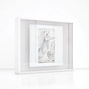 Giclée – Μεταξοτυπία έργου του εικαστικού Σωτήρη Σόρογκα. Ξύλινη κορνίζα και εκτύπωση από το Απόλυτο.