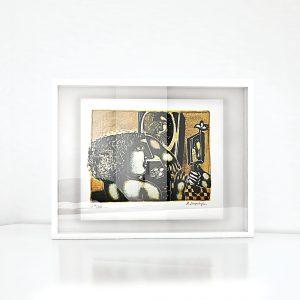 Giclée – Μεταξοτυπία έργου του εικαστικού Βασίλη Σπεράντζα. Ξύλινη κορνίζα και εκτύπωση από το Απόλυτο.