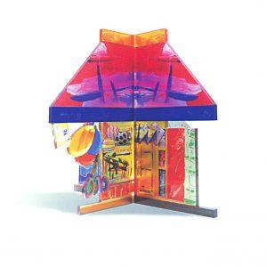 Εικαστικό αντικείμενο εκτύπωση και μορφοκοπή σε plexiglass, έργο του εικαστικού Νικολάου Κληρονόμου. Εκτύπωση, κατασκευή Απόλυτο.